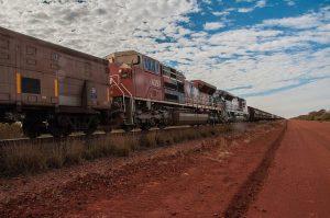Ein langer Zug in Port Hedland