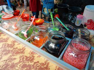 Cendol Würmer, Perlen und weitere Zutaten