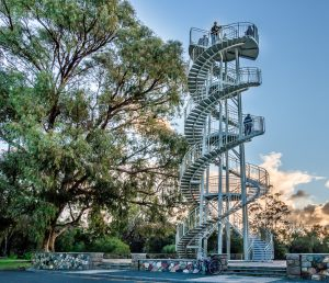dna helix tower im kings park in perth australien