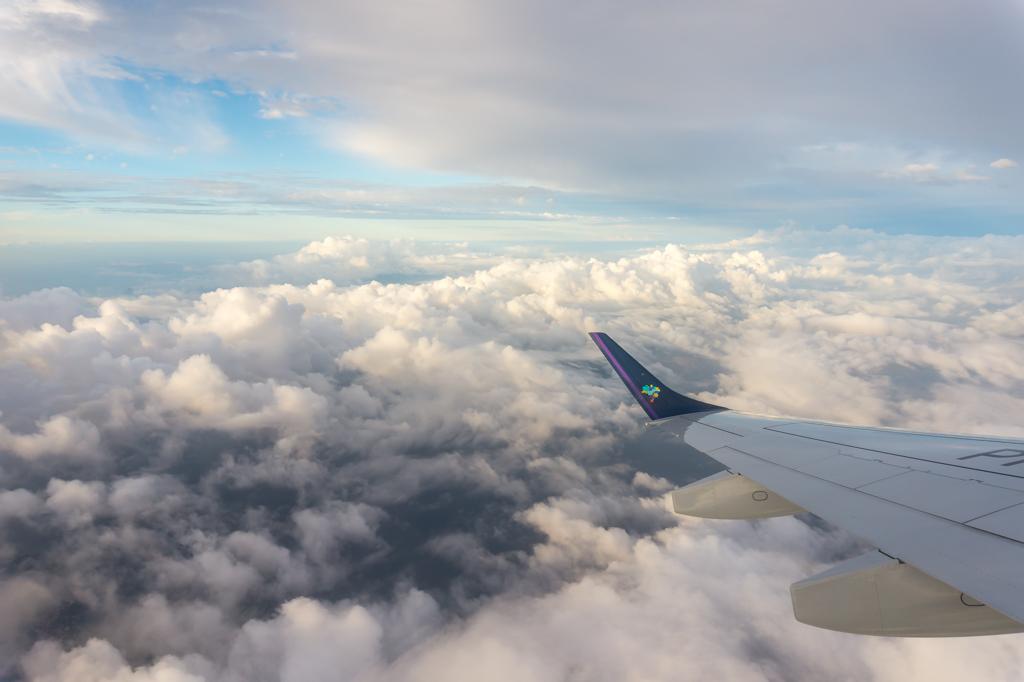 Im Flugzeug über Rio de Janeiro
