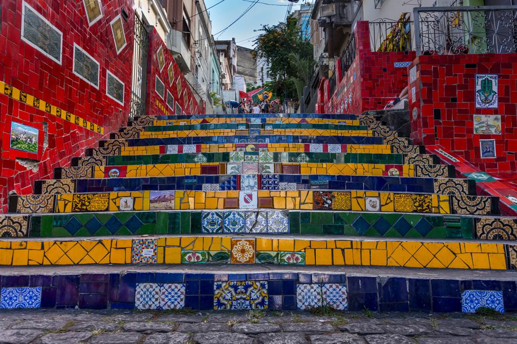 Die Escadaria Selaron Fließentreppe in Rio