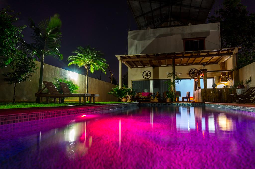 Haus in Paraguay bei Nacht