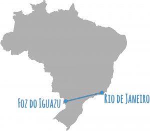 Brasilien Reiseroute und Karte