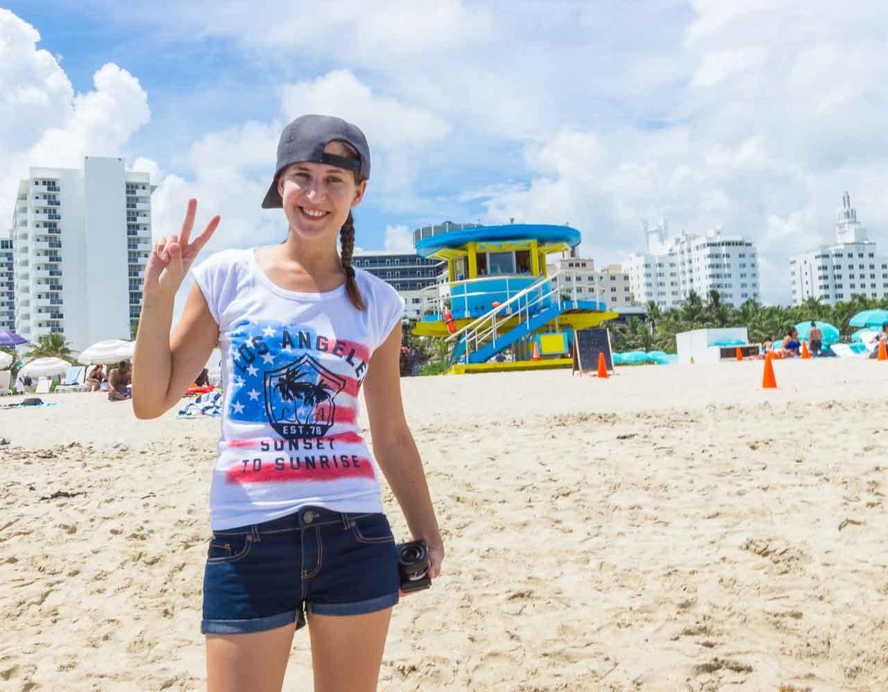 Miami Beach Strand Annika Hütte Rettungsschwimmer Haus
