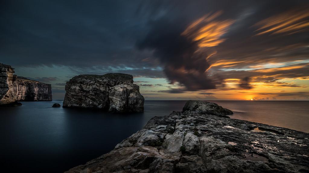 Der Fungus Rock im Meer vor der Küste Maltas